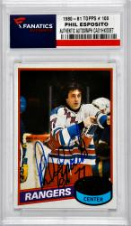 ESPOSITO, PHIL AUTO (1980-81 TOPPS # 100) CARD - Mounted Memories