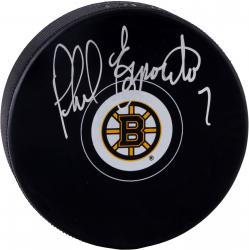 Phil Esposito Boston Bruins Autographed New Logo Puck