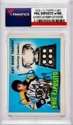"ESPOSITO, PHIL AUTO ""HOF 1984"" (1970-71 TOPPS # 247) CARD - Mounted Memories"