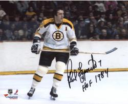 "Phil Esposito Boston Bruins Autographed 8"" x 10"" White Horizontal Photograph with HOF 1984 Inscription"