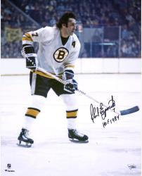 "Phil Esposito Boston Bruins Autographed 16"" x 20"" White Vertical Photograph with HOF 1984 Inscription"