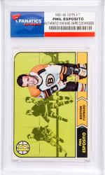 Phil Esposito Boston Bruins 1968-69 Topps #7 Card - Mounted Memories