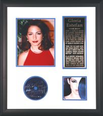 Gloria Estefan Framed Autographed CD with Photograph