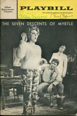 Estelle Parsons Brian Bedford Seven Descents Of Myrtle Signed Autograph Playbill