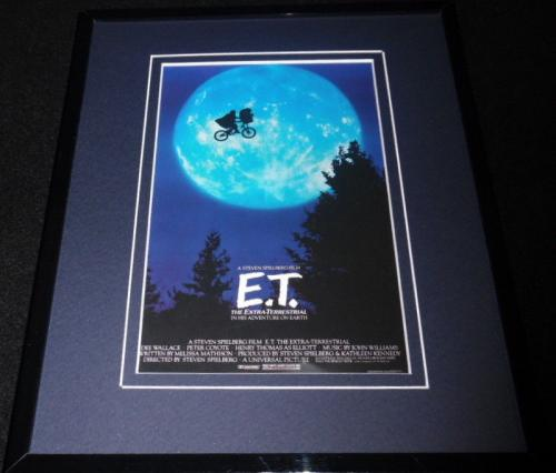 E.T. Framed 8x10 Repro Movie Poster Display Steven Spielberg Drew Barrymore