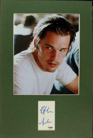 Ethan Hawke Signed Matted Cut Display Autographed PSA/DNA #J00149