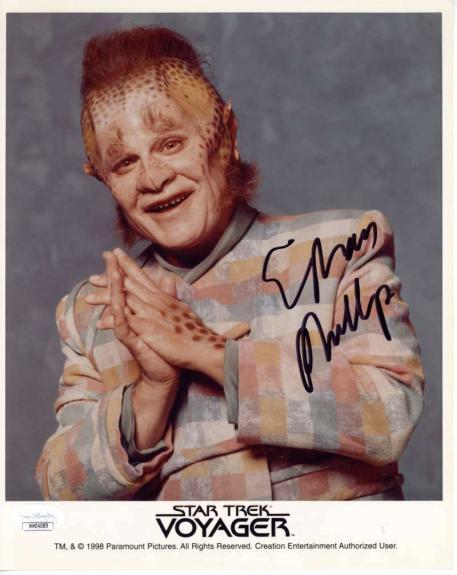 Ethan Phillips Signed Autographed 8x10 Color Photo JSA