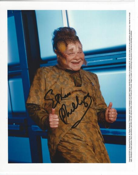 Ethan Phillips Signed Star Trek Voyager Neelix Promo 8x10 Photo #3