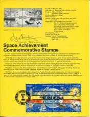 Eugene Gene Kranz NASA Flight Director Signed Autograph Rare Space FDC Sheet