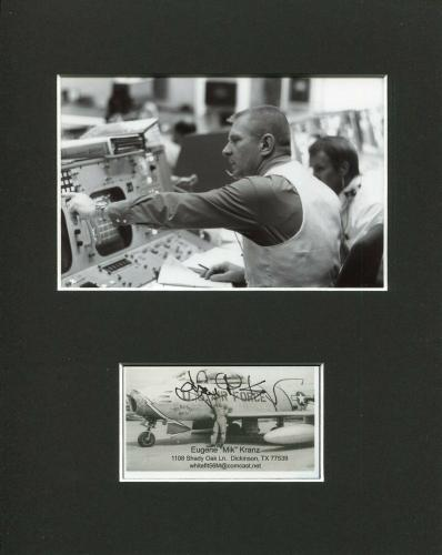 Eugene Gene Kranz NASA Flight Director Space Signed Autograph Rare Photo Display