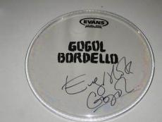 Eugene Hutz Gogol Bordello Signed Drumhead PROOF Gypsy Punk Wonderlust King