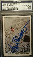 Eugene Kranz Autograph Signed PSA/DNA Authentic NASA Apollo 11 1990 Space Shots