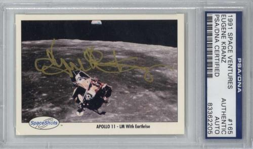 Eugene Kranz Signed Autographed 1991 Space Ventures Card Auto PSA/DNA