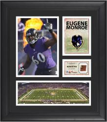 Eugene Monroe Baltimore Ravens Framed 15'' x 17'' Collage with Game-Used Football