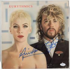 Eurythmics band signed autographed record album! Annie Lennox JSA Authenticated!