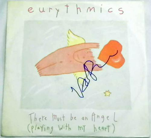 Eurythmics THere Must Be An Angel Signed Record Album LP AFTAL