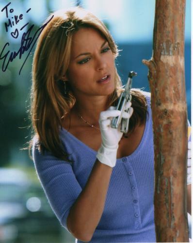EVA LARUE HAND SIGNED 8x10 PHOTO+COA        AMAZING CSI:MIAMI POSE     TO MIKE
