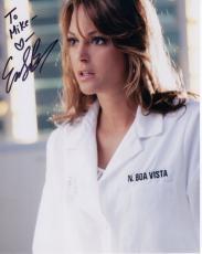 EVA LARUE HAND SIGNED 8x10 PHOTO+COA        AWESOME CSI:MIAMI POSE     TO MIKE