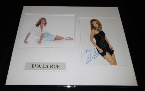 Eva LaRue Signed Framed 16x20 Photo Set All My Children CSI Miami Fuller House