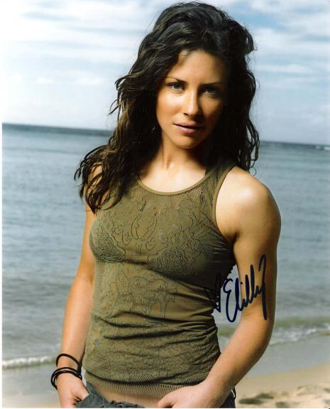 """EVANGELINE LILLY  as KATE AUSTEN in """"LOST"""" Signed 8x10 Color Photo"""