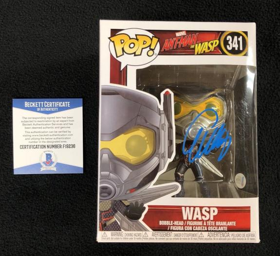Evangeline Lilly Signed Wasp Funko Pop Figure Ant-Man Beckett COA W/ Protector