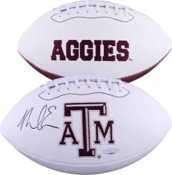 EVANS, MIKE AUTO (TEXAS A&M) W/P FOOTBALL - Mounted Memories