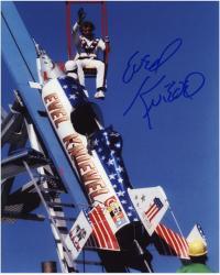 "Evel Knievel Autographed 8"" x 10"" Sky Rocket Photograph"