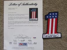 Evel Knievel Autographed Number 1 Patch Psa/dna Loa