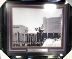 Evel Knievel Autographed Signed Framed 16x20 Photo Caesars Vegas Jump PSA/DNA
