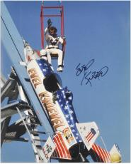 Evel Knievel Autographed 16'' x 20'' Sky Rocket Photograph