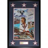 Evel Knievel Framed Autographed 18X27 Photo