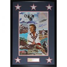 Evel Knievel Framed Autographed 18X27 Photo