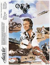 EVEL KNIEVEL HAND SIGNED 8x10 COLOR PHOTO+COA     AWESOME+RARE    GREAT STUNTMAN