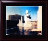 Evel Knievel signed 16x20 caesars palace photo framed MINT autograph PSA DNA COA