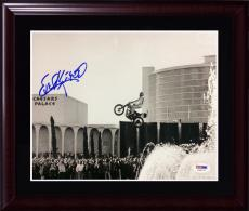Evel Knievel signed 8x10 Action Photo Caesars Palace FRAME autograph PSA DNA COA
