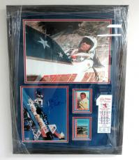 Evel Knievel Signed Snake River Canyon Jump Topps Framed Auto Mounted Memories