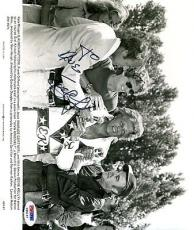 Evel Knievel Vintage Psa/dna Signed 8x10 Photo Authenticated Autograph