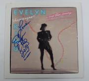 Evelyn Champagne King Signed LP Record Album A Long Time Coming w/ AUTO