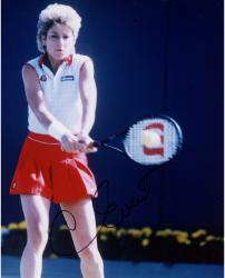 Chris Evert Autographed 8'' x 10'' Ball On Racquet Photograph