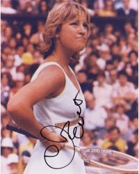 Chris Evert Autographed 8'' x 10'' Hand On Hip Photograph