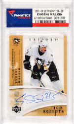 Evgeni Malkin Pittsburgh Penguins Autographed 2007-08 Upper Deck Trilogy #IS-EM Card