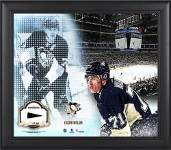 Evgeni Malkin Pittsburgh Penguins Framed 15'' x 17'' Mosaic Collage with Piece Of Game-Used Puck-Limited Edition of 99