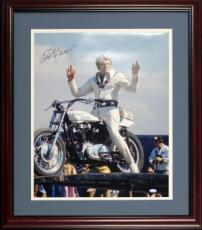 Evil Knievel Autographed Framed 16x20 Photo (Steiner)