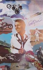 EVIL KNIEVEL AUTOGRAPHED SIGNED 16 x 24 picture poster JSA COA