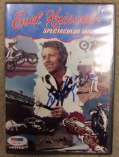 Evil Knievel Autographed Signed Dvd Spectacular Jumps Psa / Dna Coa