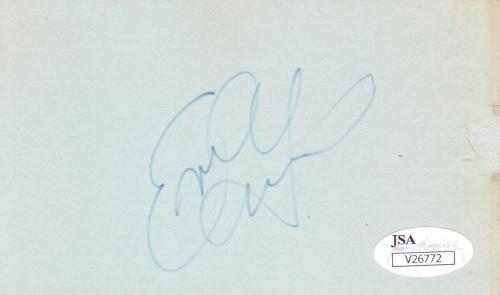 EVIL KNIEVEL Signed  3X5 Index Card JSA V26772