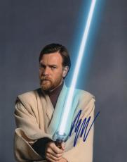 Ewan McGregor Autographed Signed 11x14 Light Sabre Photo AFTAL