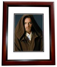 Ewan McGregor Signed - Autographed STAR WARS 11x14 inch Photo MAHOGANY CUSTOM FRAME - Guaranteed to pass PSA or JSA - Obi-Wan Kenobi
