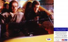 Ewan McGregor & Hayden Christensen Signed 8x10 Star Wars Anakin Obi-Wan PSA/DNA