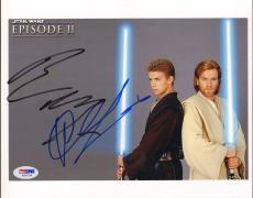 EWAN McGREGOR & HAYDEN CHRISTENSEN Signed STAR WARS 8x10 Photo PSA/DNA #AB07014